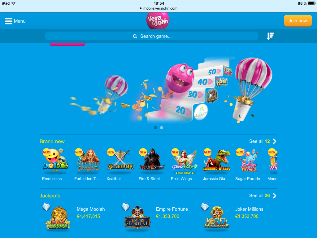 Mobile Casinos iPad