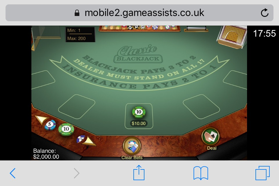 Microgaming Mobile Blackjack