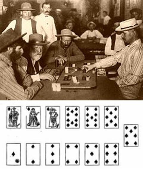 Gambling card game faro roulette probability formula