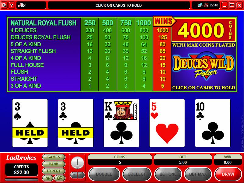 Game king deuces wild video poker double diamond slot videos