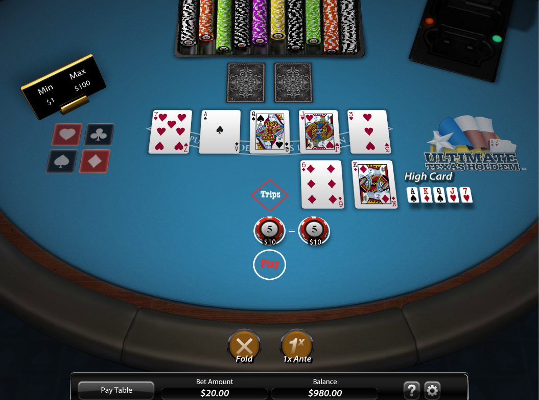 SG Gaming Ultimate Texas Holdem