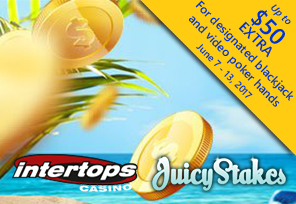 Win $2K in Summer Casino Jackpot Prizes at Juicy Stakes and Intertops
