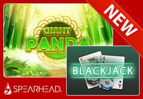 Spearhead Studios Launches Blackjack and Giant Panda Slot