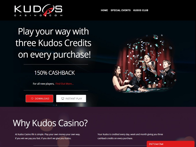 Kudos Casino Instant Play