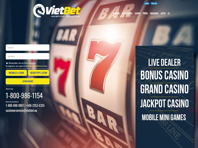 VietBet Casino home