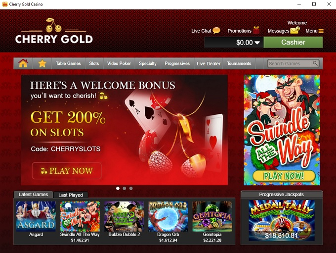 Cherry casino free bonus codes